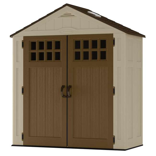 BMS6310D Suncast Everett 6 ft. 3 in. W x 2 ft. 9 in. D Outside Storage Equipment Shed