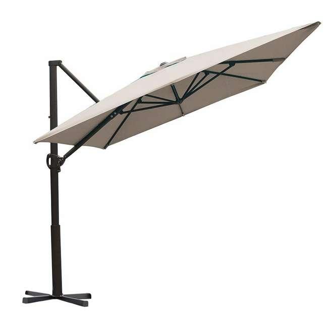 APNRC810SC Abba Patio 8 x 10 Feet Rectangular Umbrella, Sand 1
