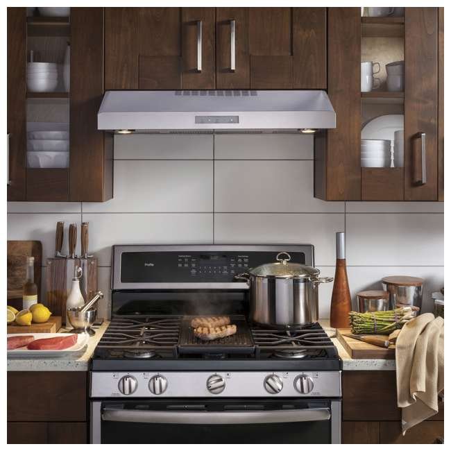 PVX7300SJSS-U-C GE Profile 30 Inch Under the Cabinet Hood Stainless Steel Range Vent (For Parts) 8