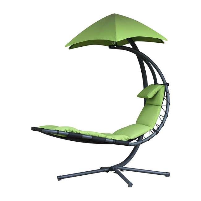 DREAM-GA Vivere The Original Dream Lounger Steel Backyard Patio Deck Chair, Green Apple