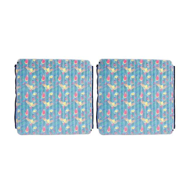 2183216-MW Margaritaville Aqua Plank Pool Float with Comfort Top (2 Pack)