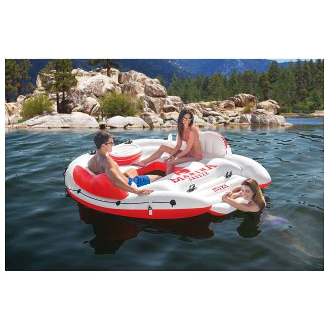 56296CA + 66639E Intex Inflatable Island Float Raft | Intex 120V Quick Fill AC Electric Air Pump 3