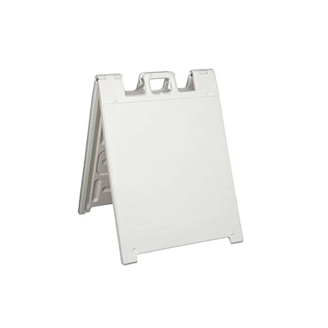 136W Plasticade Squarecade Double-Sided Sign Stand, White (2 Pack) 1