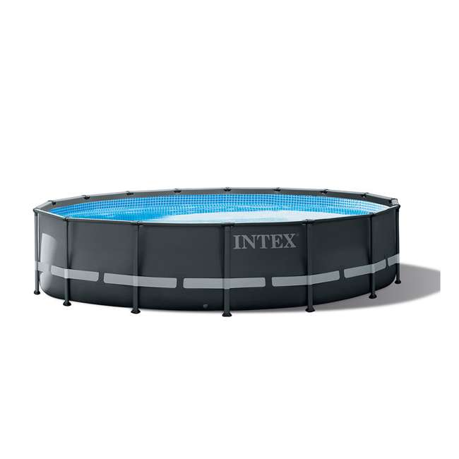 26325EH + QLC-42003 Intex 16ft x 48in Ultra XTR Frame Above Ground Pool w/ Pump & Cleaning Kit 1