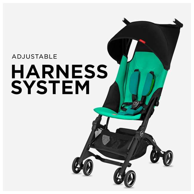 619000529 GB Pockit Plus Lightweight Folding All Terrain Infant Stroller, Velvet Black 4