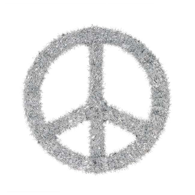 TR1AAB032X01 Home Heritage 22 Inch Unlit Artificial Holiday Christmas Peace Sign Door Wreath