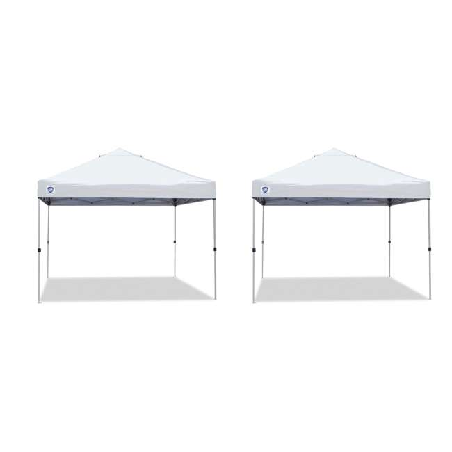 ZS1010PKWH Z-Shade 10' x 10' Straight Leg Instant Shade Peak Canopy (2 Pack)