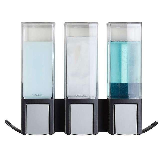 77384 Better Living CLEVER Luxury Shower/Bath Liquid Wall Dispenser, Black/Chrome 1