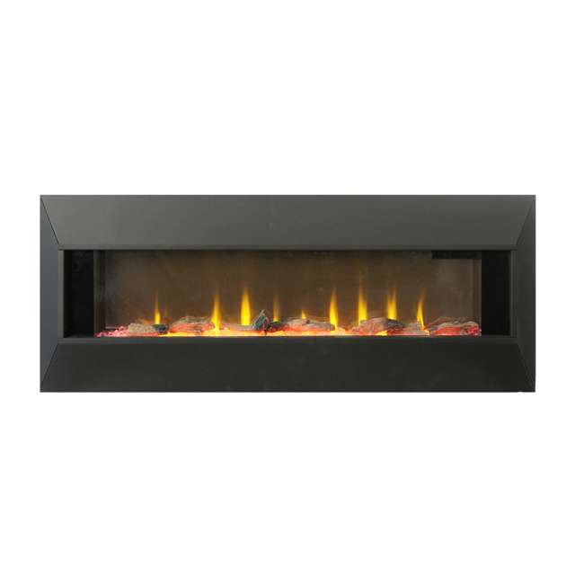 HW93233SMQR Lifesmart HW93233SMQR 42 Inch Infrared Wall Mount Electric Fireplace, Black