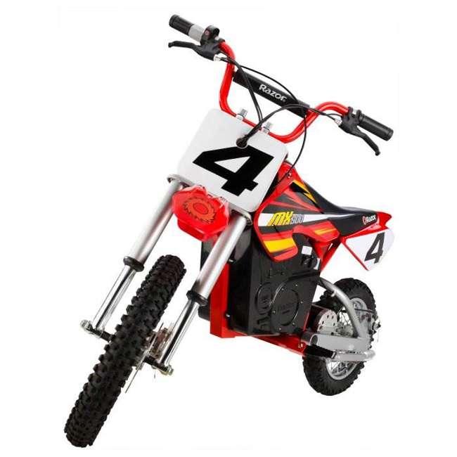 15128190 + 96785 + 97775 Razor MX500 Dirt Rocket Electric Moto Bike with Helmet, Elbow & Knee Pads 6