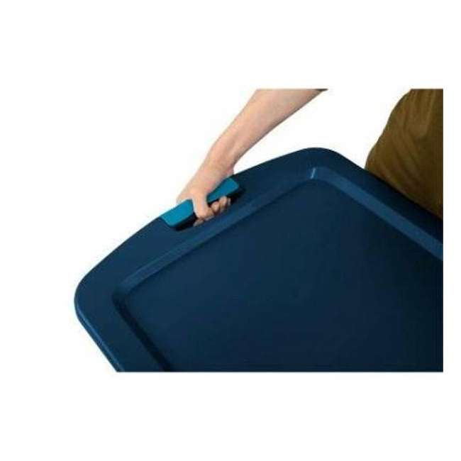 12 x 14469606-U-A Sterilite 18 Gallon Latch and Carry Storage Tote Container (Open Box) (12 Pack) 5