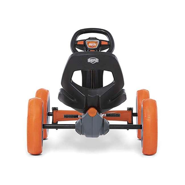 24.60.01.00 BERG Reppy Racer Kids Pedal Go Kart Ride On Toy w/ Axle Steering, Gray & Orange 2
