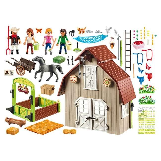 70118 Playmobil 70118 Barn with DreamWorks Lucky, Pru & Abigail Spirit Riding Play Set 1