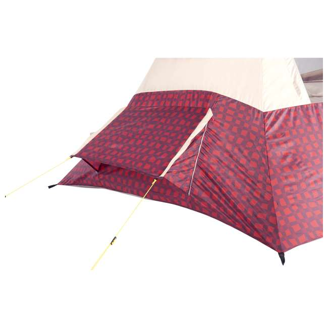 7300818RBP Wenzel Shenanigan 5-Person Teepee Camping Tent, Red Buffalo Plaid 2