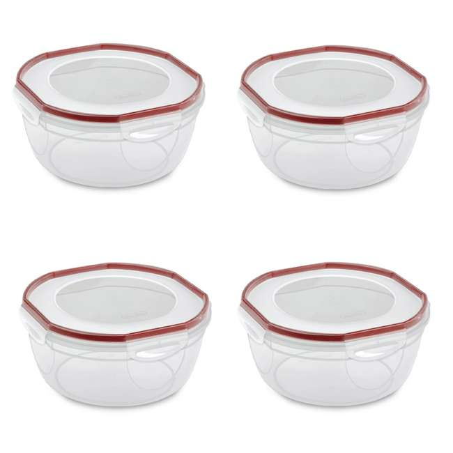 4 x 3948604 Sterilite Ultra Seal 4.7 Qt Plastic Food Storage Bowl Container w/ Lid (4 Pack)