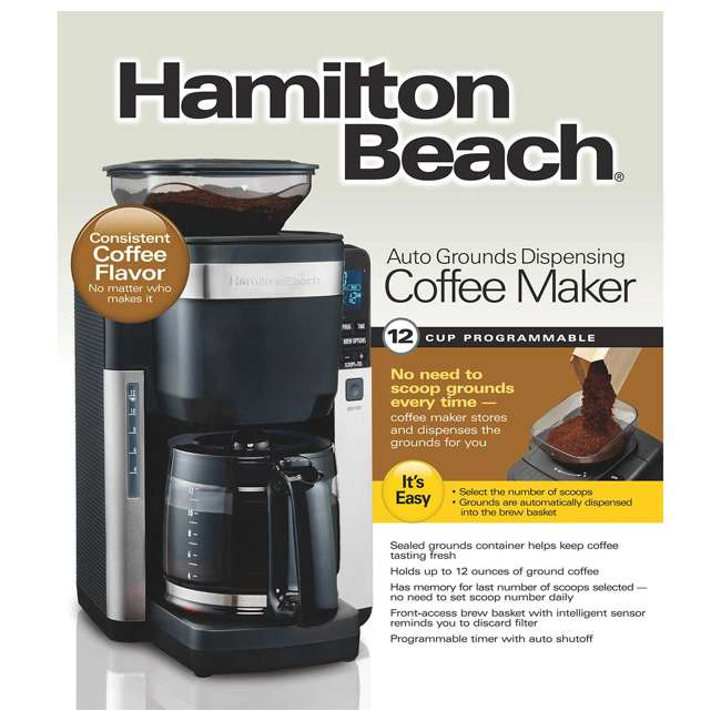 45400 + 52400 Hamilton Beach 12 Cup Coffee Maker w/ Smoothie Mixer 6