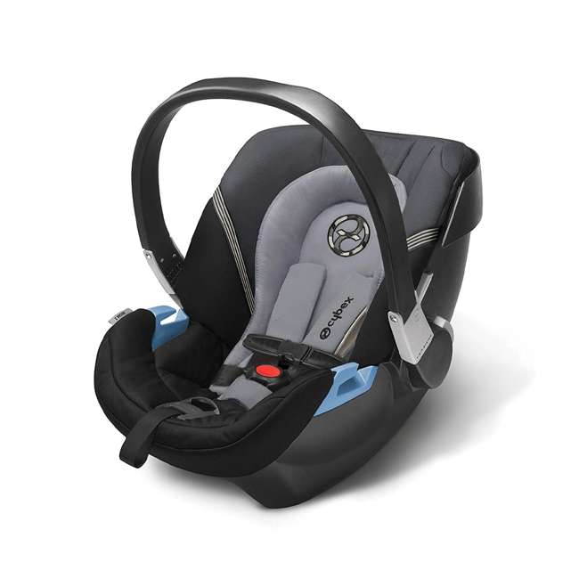 618000821 + 515103015 gb POCKIT GO Car Seat Carrier, Satin Black & CYBEX Aton 2 Car Seat 2