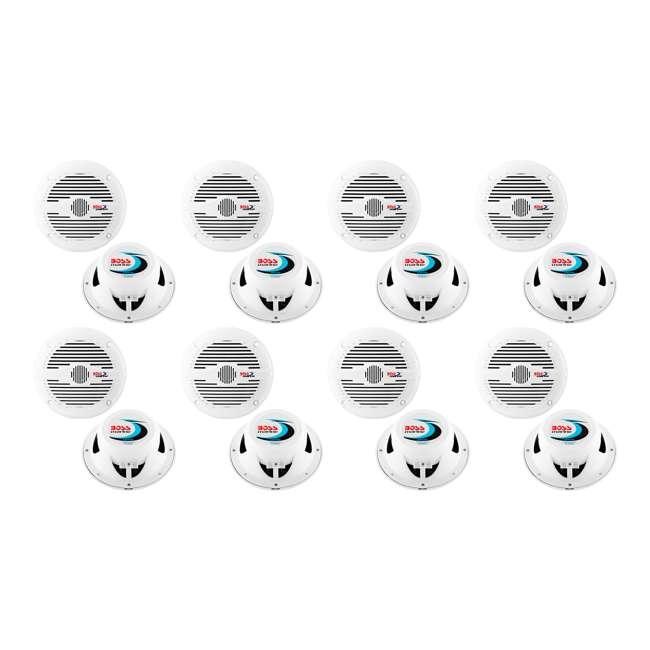 8 x MR50W Boss Audio MR50W 5.25-Inch 2-Way 150W White Marine Speakers  (8 Pack)