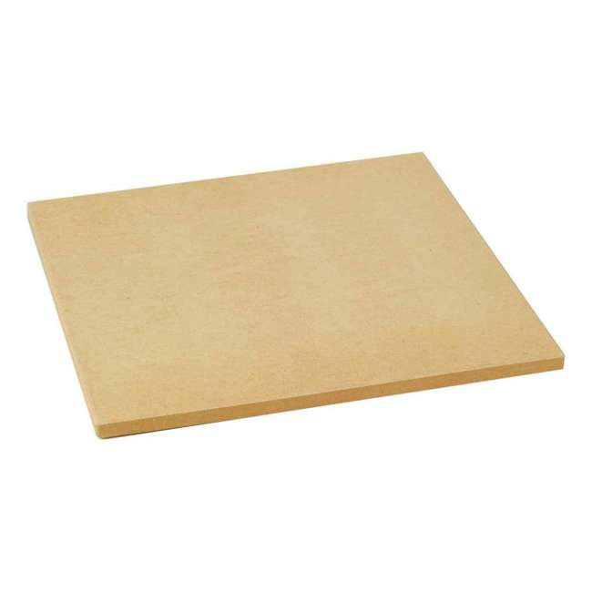 BOPA-24208 + BOPA-24222 Bull 15-Inch Square Pizza Stone, Brown & Rolling Pin 1