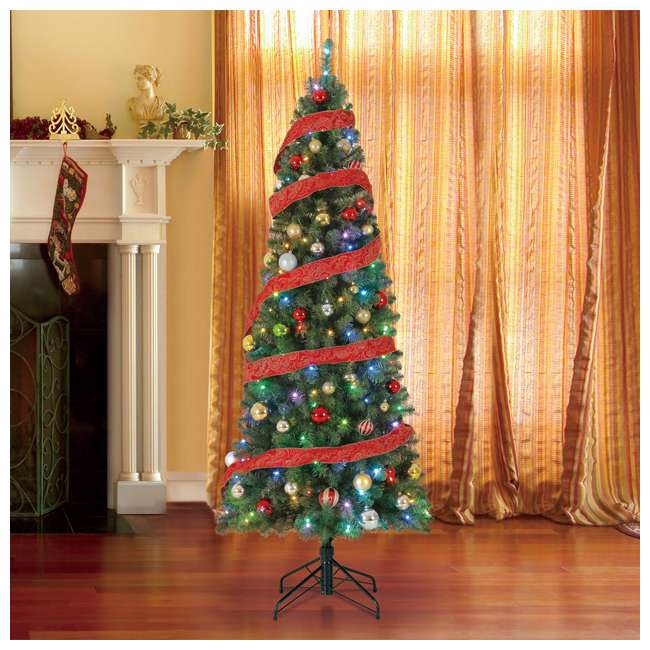 TG70CH119P00 Home Heritage 7' Color Blast Multiple Light Function Micro Dot LED Christmas Tree 5