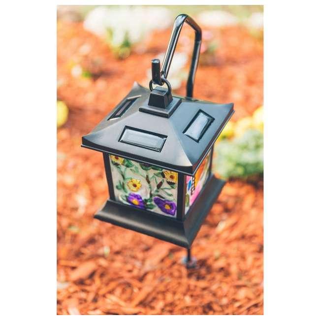 MR-92276 Moonrays Solar Powered LED Garden Outdoor Metal Stake Light 1
