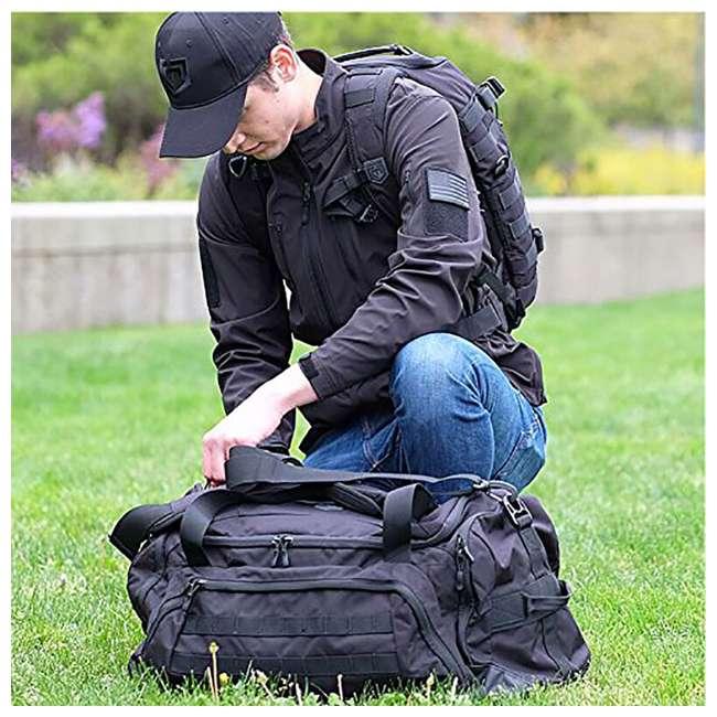 CPG-DB-CTD-M-B Cannae Pro Gear 500D Nylon 60-Liter Transport Duffle Bag, Black 3