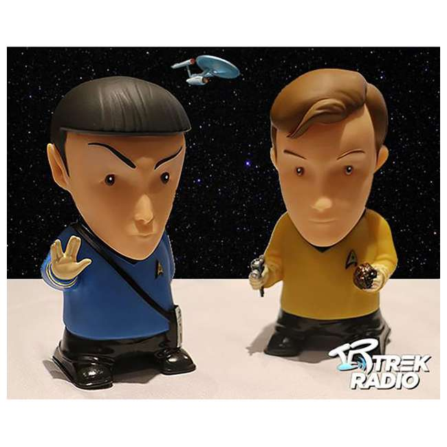 FT-SPK-U-B Fametek Star Trek Mr. Spock 6-Inch Wireless Bluetooth Speaker w/ 9 Quotes (Used) 7