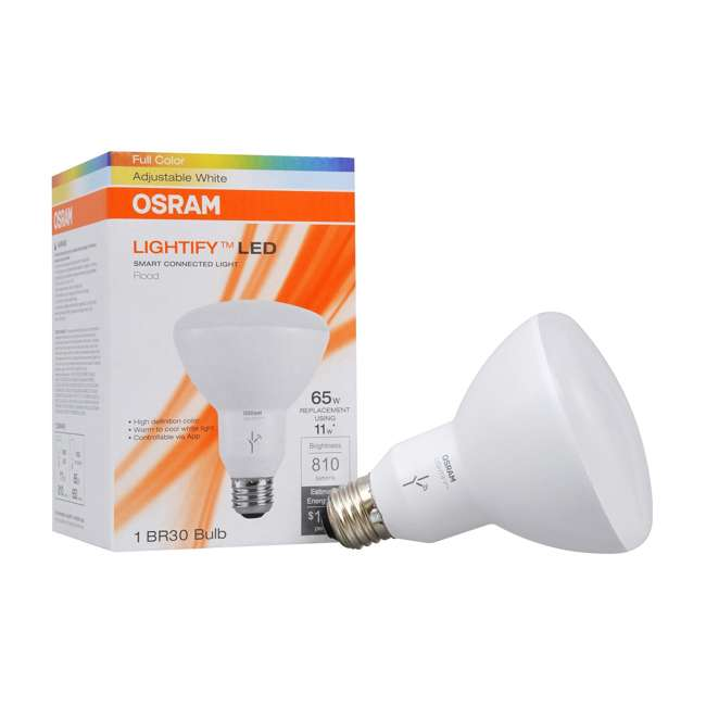 SYL-73857-2PK-U-A Sylvania Smart Home 65W BR30 White/Color LED Light Bulb (4 Bulbs) (Open Box) 5