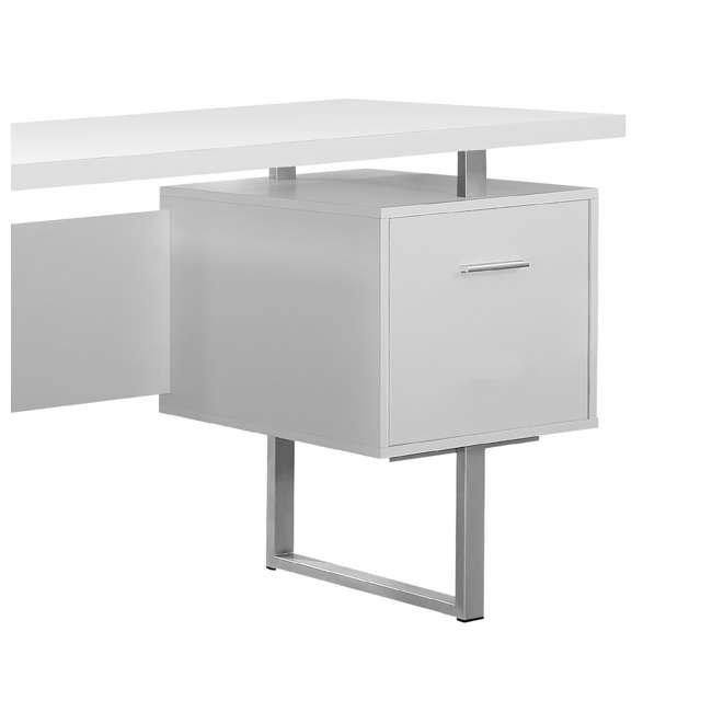 VM-7081 + VM-7048 Monarch 60 Inch Office Computer Desk w/ Filing Drawer & 3 Drawer Filing Cabinet 5