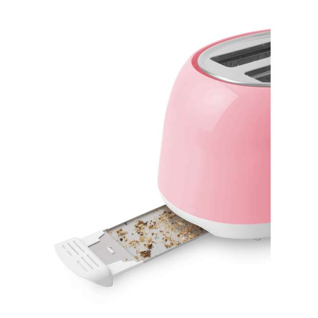 STS34RD-NAA1 Sencor STS34RD Electric Toaster with Electronic Timer and Crumb Tray, Pastel Red 5