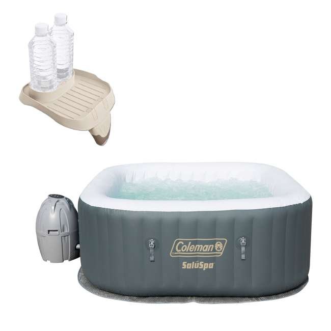 15442-BW + 28500E  Coleman SaluSpa 4 Person Inflatable Hot Tub w/ attachable cup holder (28500E)