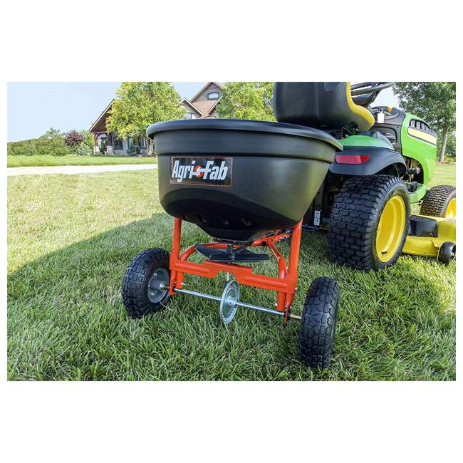 45-0527 Agri-fab 110 Pound Capacity Tow Broadcast Spreader 5