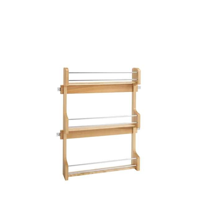 4SR-21 Rev-A-Shelf 21 Inch Cabinet Door Mount Wood 3 Shelf Spice Rack with Hardware