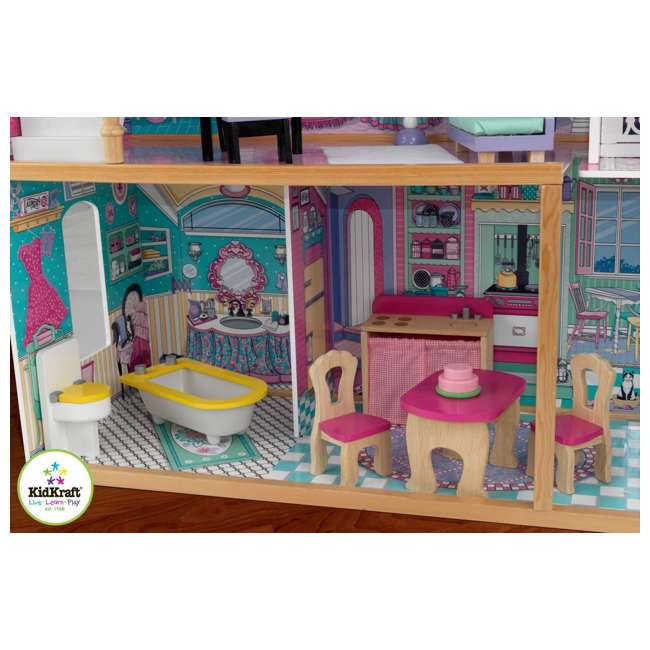 Kidkraft Annabelle Wooden Pretend Play Dollhouse With Furniture Included 65079