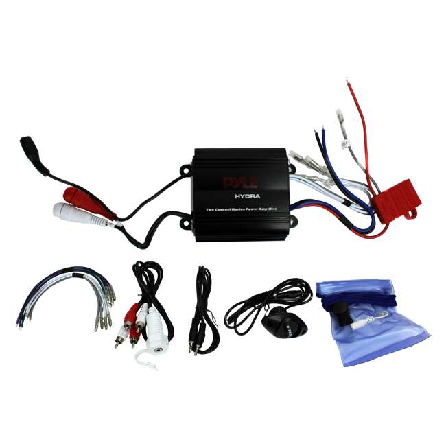 PLMRMP3B Pyle PLMRMP3B 800W 4-Channel Micro Marine Amplifier