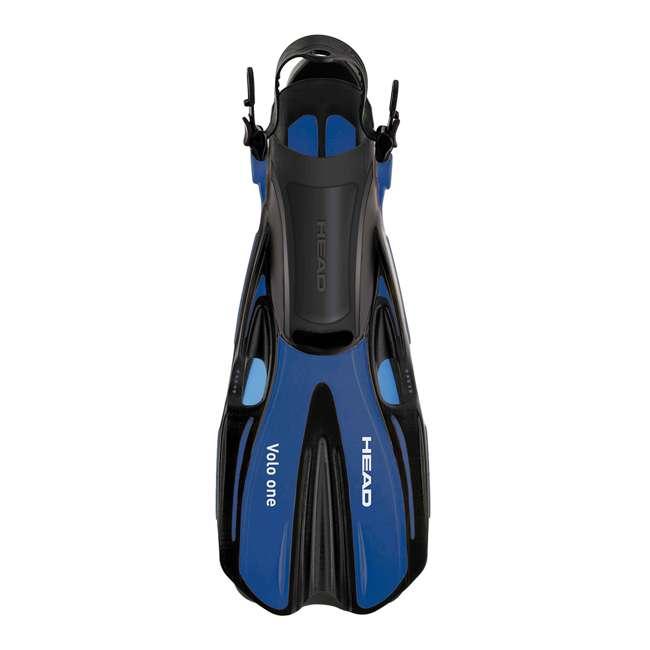 496325BBKBKLXL + 480203SFBKLXL Head Sea Vu Dry Full-Face Snorkel Mask and Flippers Set, L/XL