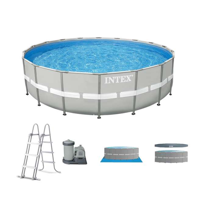 Intex 20 39 X 48 Ultra Frame Above Ground Swimming Pool Set 26303eh