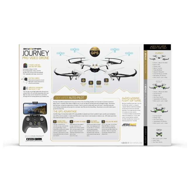 SKY-01849 + SKY-01846 Sky Viper Journey Pro GPS Live Video Drone & Battery Pack 5