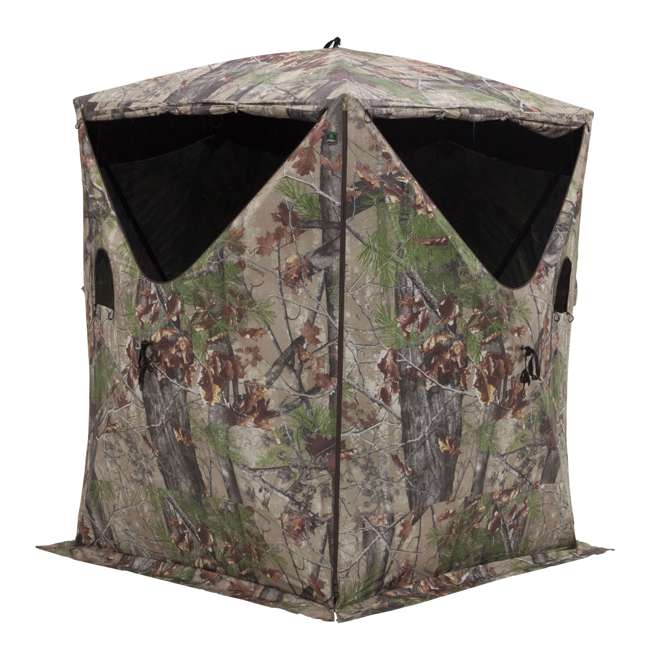 BARR-BM12BW Barronett Blinds Big Mike 2.0 Backwoods 3 Person Ground Hunting Blind (2 Pack) 1