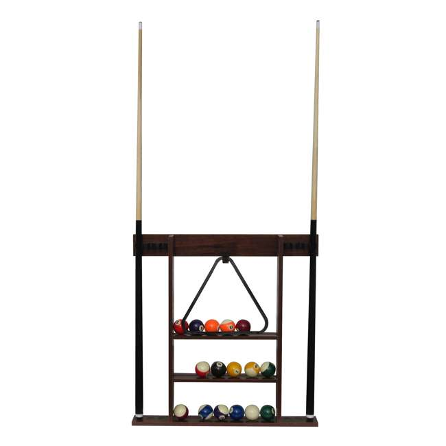 BL090Y19018 Sportcraft 7.5-Foot Ball and Claw Billiard Table with Cue Rack 2