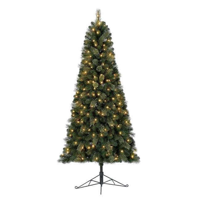 TG70M2AKML00 Home Heritage Cashmere 7 Foot Artificial Christmas Half Tree with LED Lights