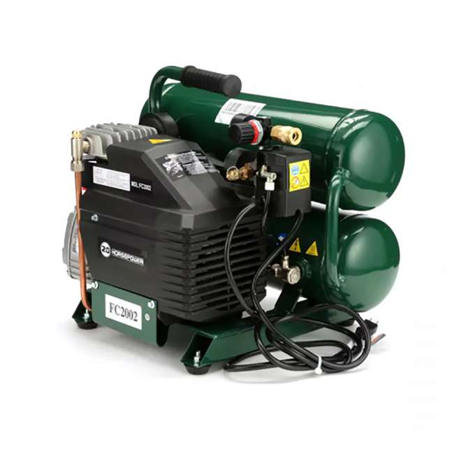 FC2002 Rolair Intelligent Twin Stack 4.3 Gallon Durable Iron Cylindrical Air Compressor 2