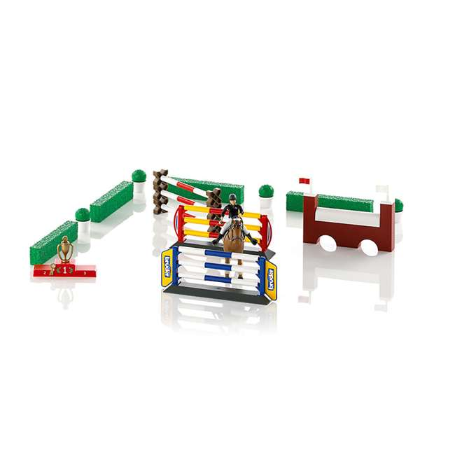 62530-BR Bruder Toys Show Jumping Obstacle Course with Rider and Horse 1