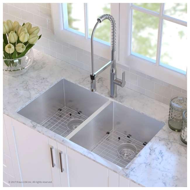 KHU102-33 Kraus 33-Inch Undermount Double Stainless Steel Kitchen Sink (2 Pack) 3