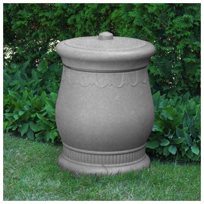 SV-URN-LIG Good Ideas Savannah Decorative 30 Gallon Storage Waste Basket Urn, Light Granite 1
