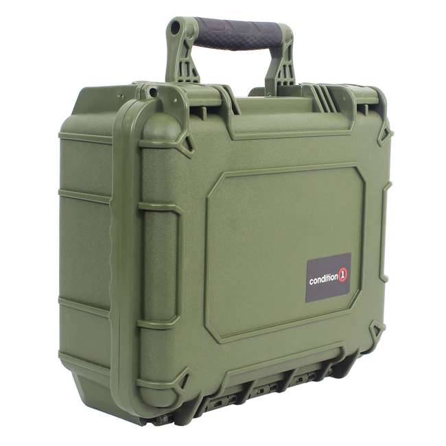 "H075GNF8542AC1 + H801GRF8539AC1 Condition 1 14"" Protective Carrying Case & Storage Case, Green 2"