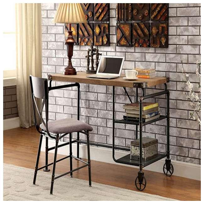 CM-DK6913 Furniture of America CM-DK6913 Olga I Industrial Antique Metal Writing Desk 1