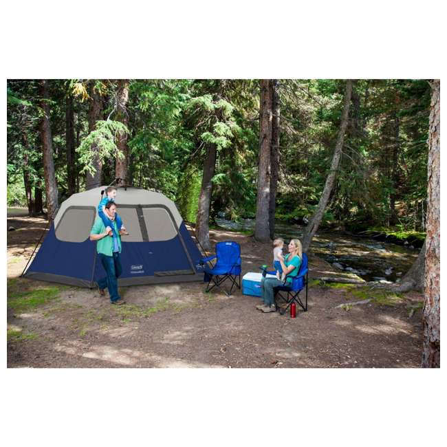 2000024350 Coleman 6-Person Instant Cabin Family Camping Tent With Rainfly 6