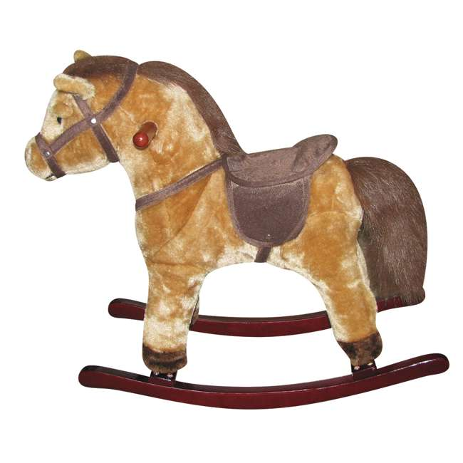 82445 LNK2 Charm Company Pete Pony Plush Wooden Frame Rocker 24 Months and Up   2