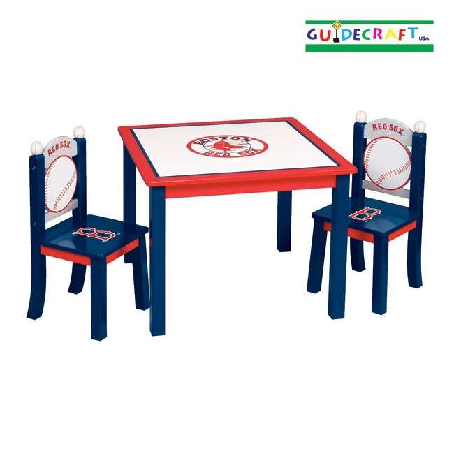 G11708 Guidecraft Red Sox Table & Chairs Set
